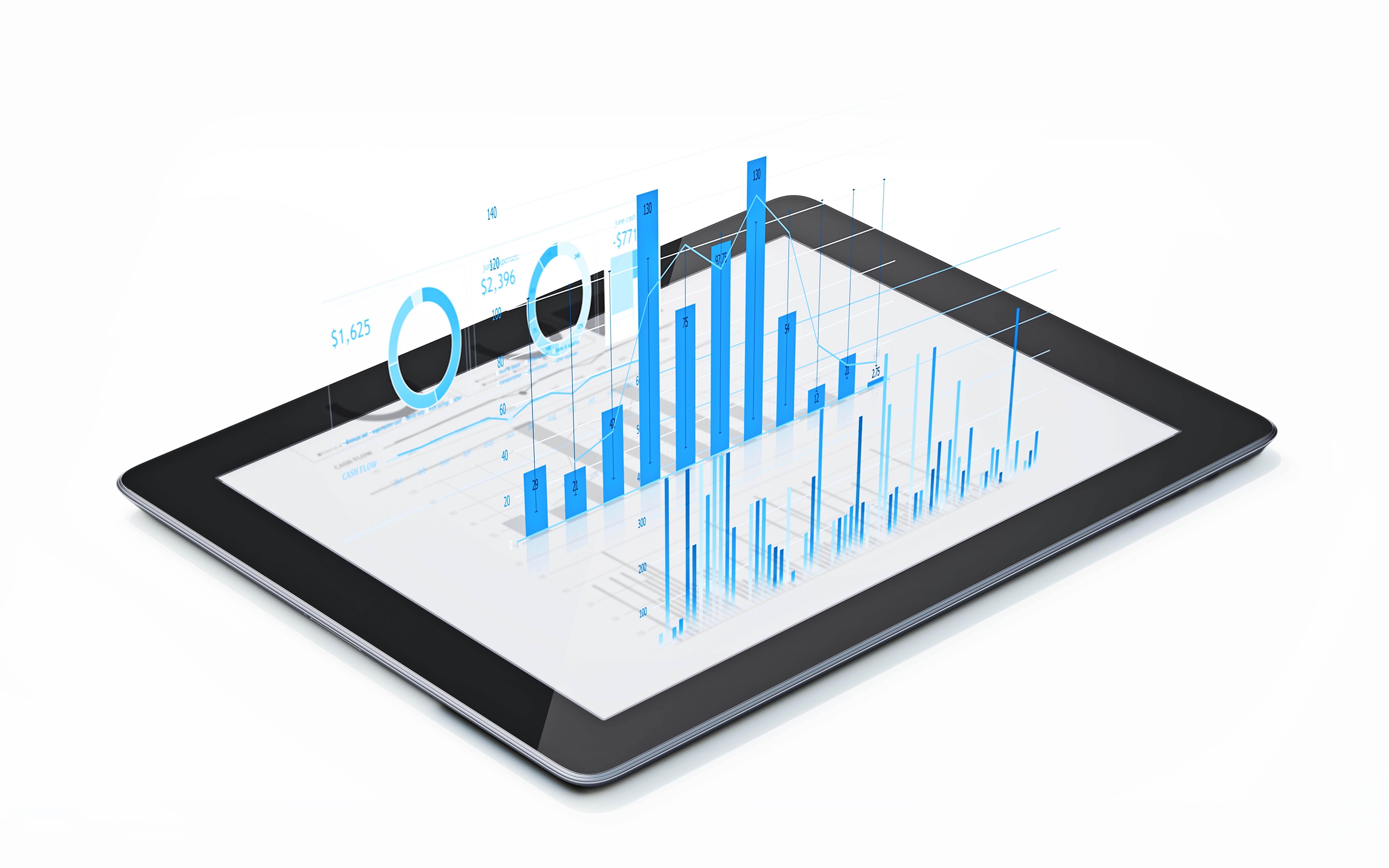 graphiques-analyses-sur-tablette-digitale